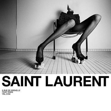 Saint Laurent Roller-Skate Stilettos Campaign-2
