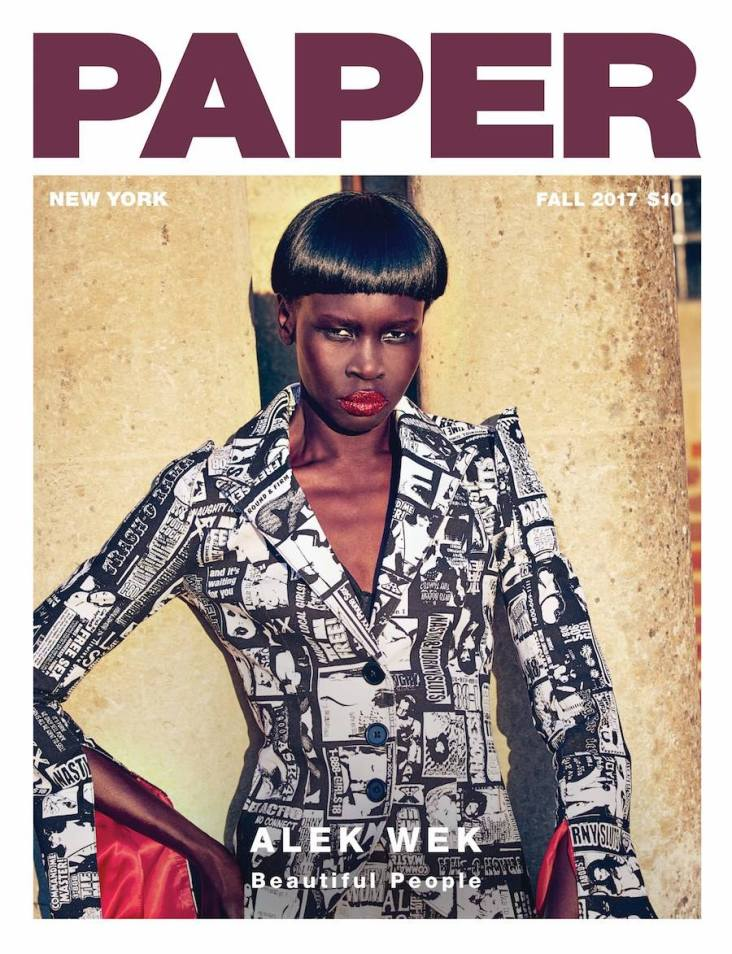 Alek Wek Paper Magazine Fall 2017 Cover