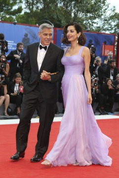 Amal Clooney in Atelier Versace with George Clooney-2