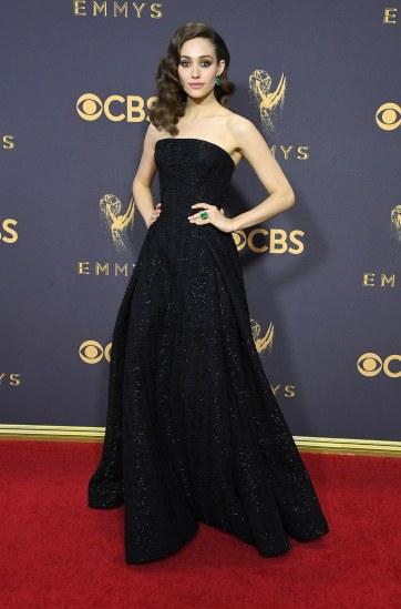 Emmy Rossum in Zac Posen Fall 2017-2