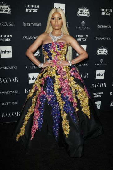 Nicki Minaj in Oscar de la Renta Fall 2017