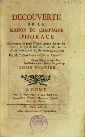 〈Decouverte de La Maisjon de Campagne D'Horace〉內頁