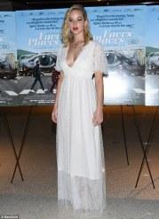 Jennifer Lawrence in L Wells Bridal Spring 2018-2