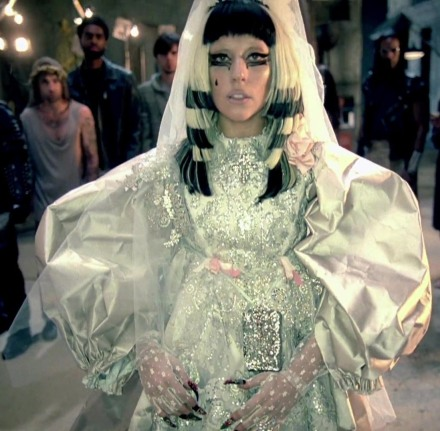 Lady Gaga in Christian Lacroix Fall 2008 Couture