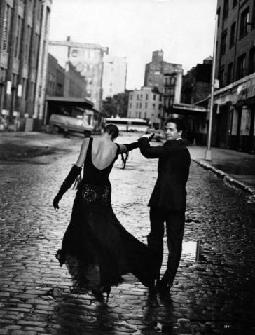 Linda Evangelista Hugh Grant Harper's Bazaar 1992-6