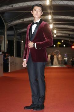 Wu Kang Ren in Salvatore Ferragamo Velvet Suit-1
