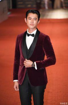Wu Kang Ren in Salvatore Ferragamo Velvet Suit-4