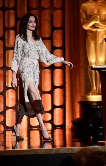 Angelina Jolie in Elisabetta Franchi Fall 2017-2