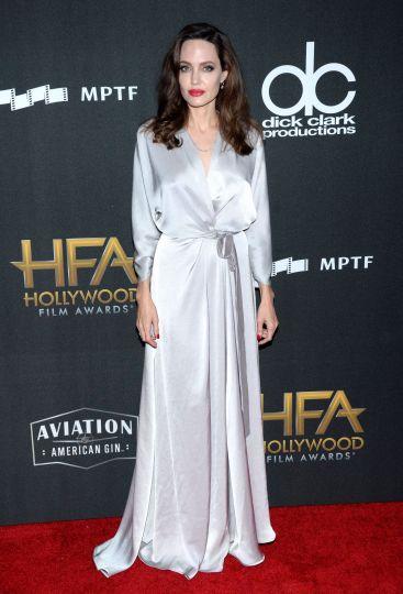 Angelina Jolie in Jenny Packham Fall 2017