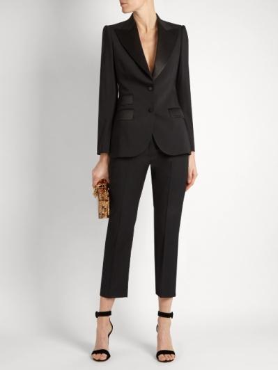 Dolce & Gabbana Single Breasted Wool Jacket