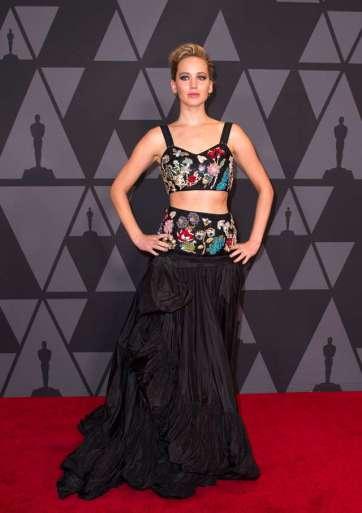 Jennifer Lawrence in Alexander McQueen Resort 2018