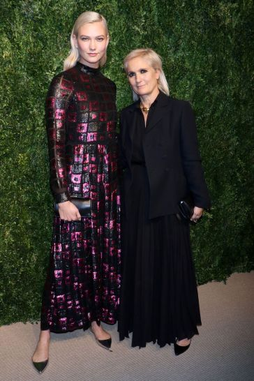 Karlie Kloss in Dior with Maria Grazia Chiuri