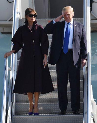 Melania Trump in Delpozo Fall 2017-2