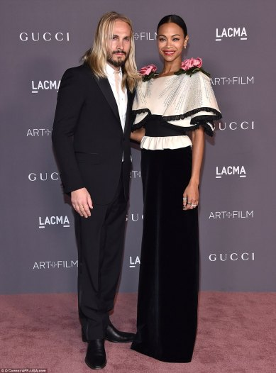 Zoe Saldana in Gucci Fall 2017-1