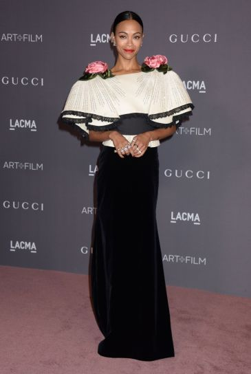 Zoe Saldana in Gucci Fall 2017-2