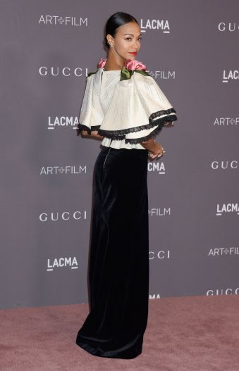 Zoe Saldana in Gucci Fall 2017
