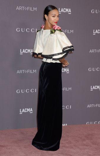 Zoe Saldana in Gucci Fall 2017