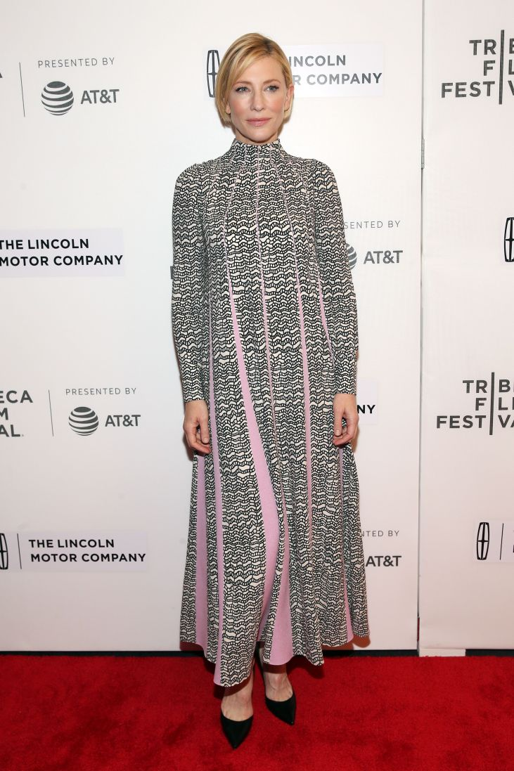Mandatory Credit: Photo by Mark Von Holden/REX/Shutterstock (8660262e) Cate Blanchett 'Manifesto' screening, Arrivals, Tribeca Film Festival, New York, USA - 26 Apr 2017