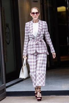 Celine Dion in Antonio Berardi Resort 2018