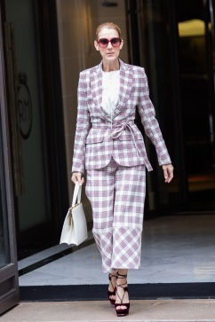 Celine Dion in Antonio Berardi Resort 2018