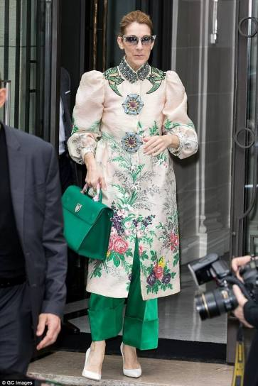 Celine Dion in Gucci