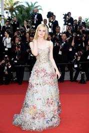 Elle Fanning in Dior Spring 2017 Couture