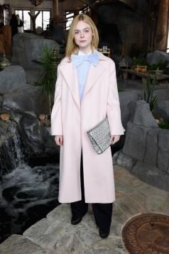 Elle Fanning in Max Mara Pre-Fall 2017