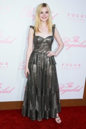 Elle Fanning in Naeem Khan Fall 2017