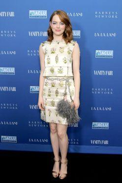 Emma Stone in Giambattista Valli Spring 2017 Couture