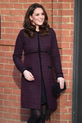 Kate Middleton in Seraphine Marina Maternity Coat