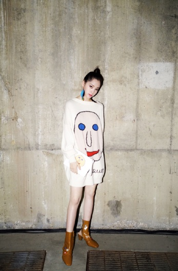 Ou Yang Nana in Christopher Kane