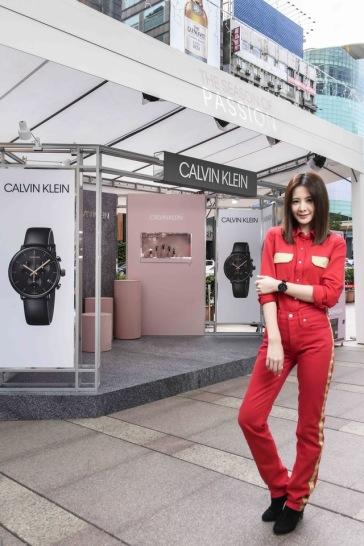 Amber An in Calvin Klein-1