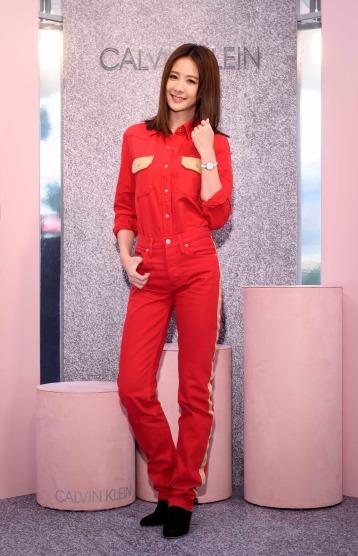 Amber An in Calvin Klein
