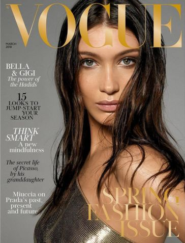 Bella Hadid for Vogue UK March 2018 Cover