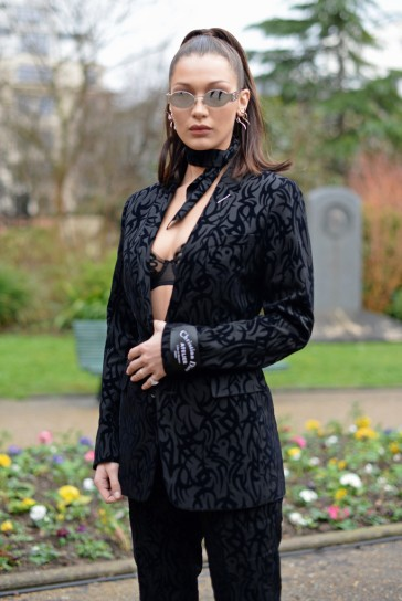 Bella Hadid in Dior Homme Fall 2018-3