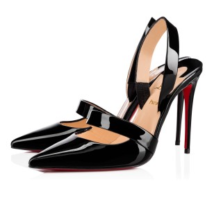 Christian Louboutin Actina 100 Black Patent Leather