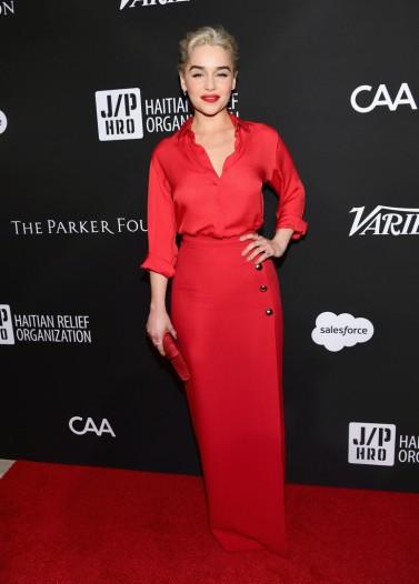 Emilia Clarke in Elie Saab Spring 2018-7
