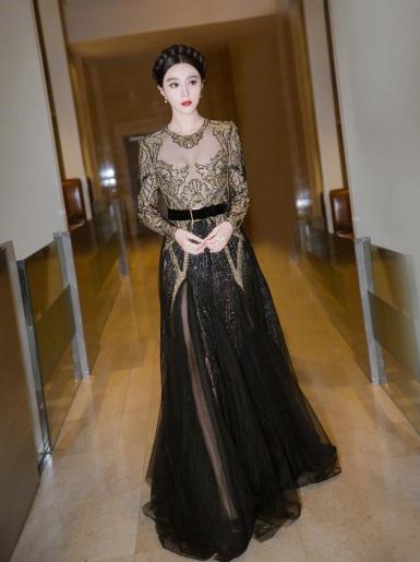 Fan Bingbing in Elie Saab Fall 2017 Couture-1