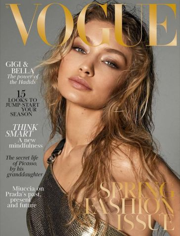 Gigi Hadid for Vogue UK March 2018 Cover