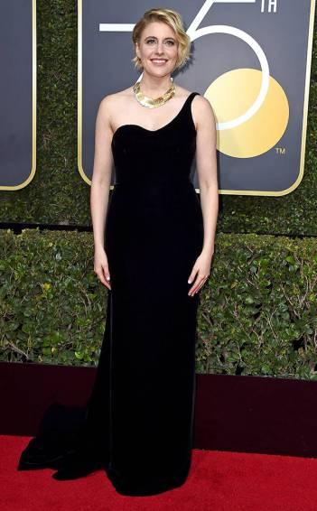 Greta Gerwig in Oscar de la Renta Fall 2017-2
