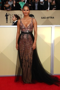 Halle Berry in Pamella Roland Pre-Fall 2018-2
