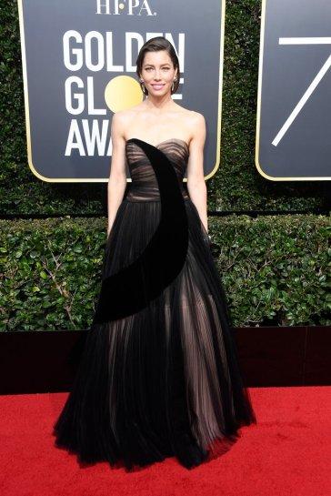 Jessica Biel in Dior Spring 2017 Couture