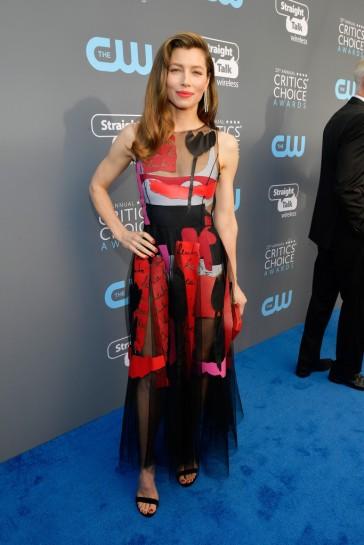 Jessica Biel in Oscar de la Renta Spring 2018-2