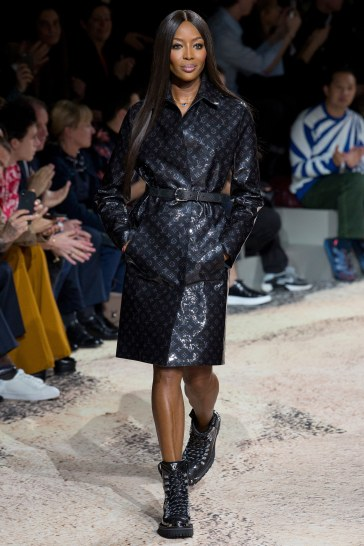 Louis Vuitton Fall 2018 Menswear-Naomi Campbell