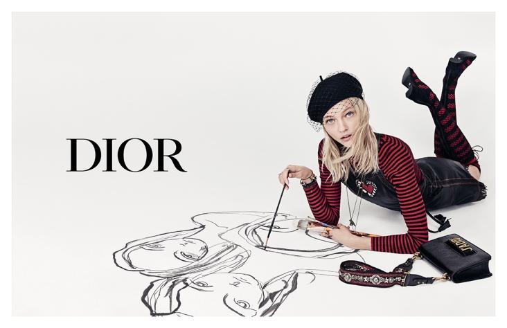 Sasha Pivovarova X Dior Spring 2018 Campaign-11