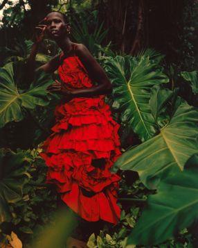 Shanelle Nyasiase for Alexander McQueen Spring 2018 Campaign-6