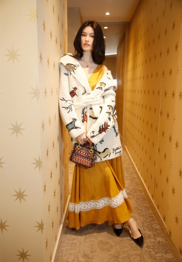 Sui He in Dior Resort 2018-2