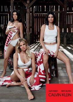 The Kardashians for Calvin Klein #MyCalvins Our Family Campaign-2