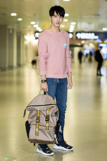 Xu Wei Zhou in Fendi Spring 2018 menswear