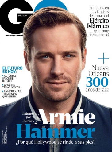 Armie Hammer for GQ Mexico March 2018 Cover B